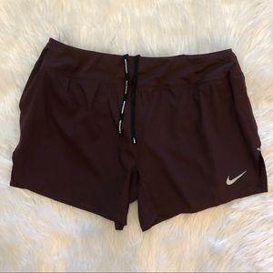 NWT! Nike Womens Burgundy Flex Dri Fit Shorts